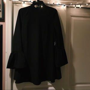 Lulu's Black Bell Sleeve Dress